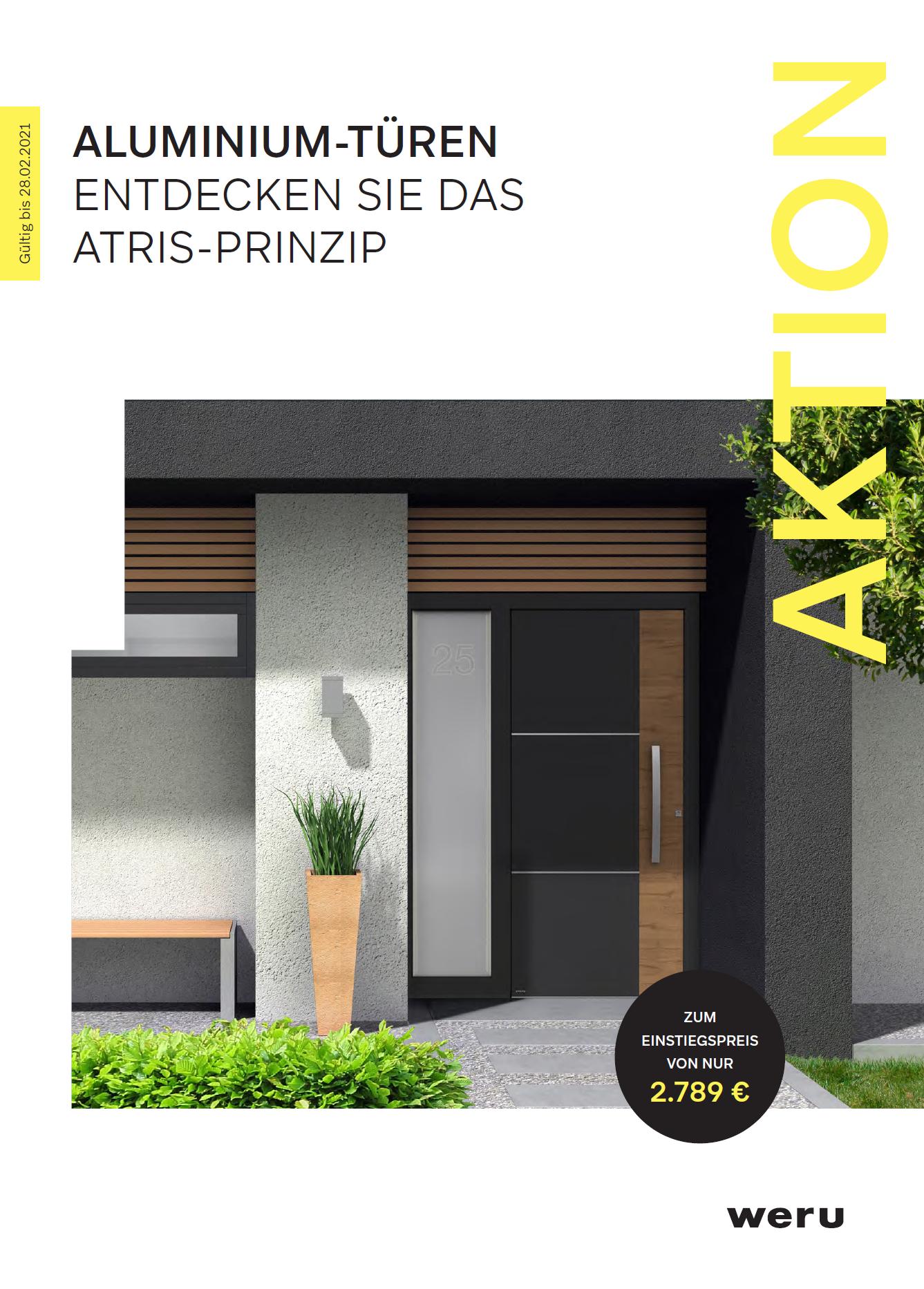 Aktion: Aluminium-Türen - Entdecken Sie das ATRIS-Prinzip